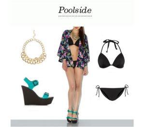 kimono poolside
