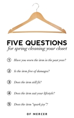 spring clean closet questions