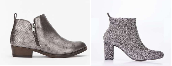 daily silver ankle boots