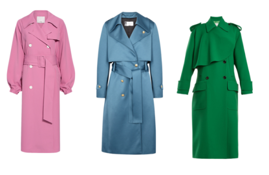 Coloured trench coat
